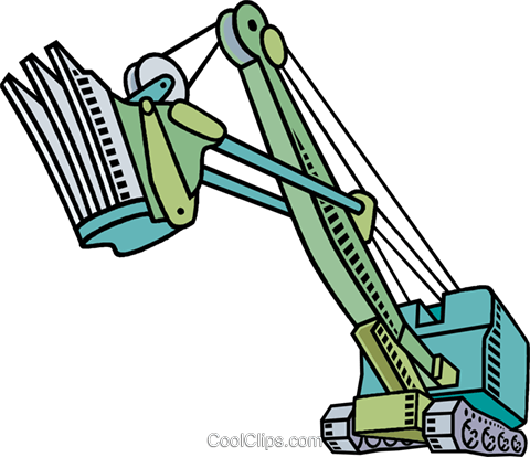 Steam shovel Royalty Free Vector Clip Art illustration vc010581