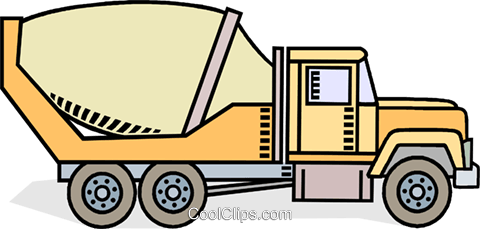 cement truck Royalty Free Vector Clip Art illustration vc010582