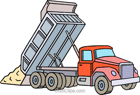 Dump truck Royalty Free Vector Clip Art illustration vc010585