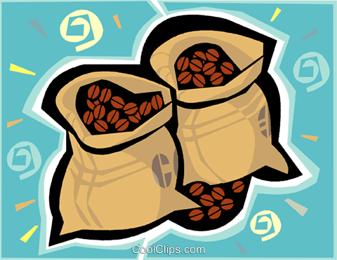 coffee beans Royalty Free Vector Clip Art illustration vc010590
