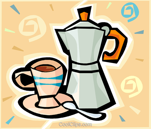 coffee Royalty Free Vector Clip Art illustration vc010591