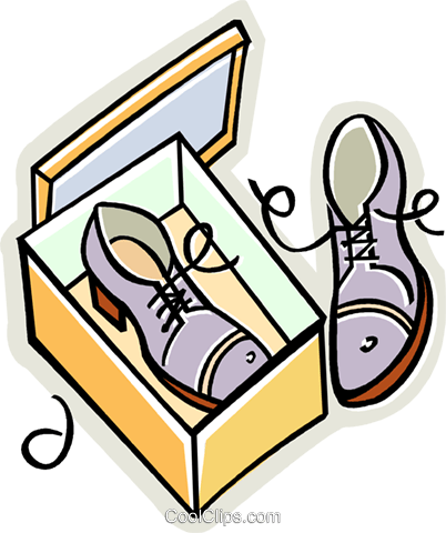 new shoes Royalty Free Vector Clip Art illustration vc010597