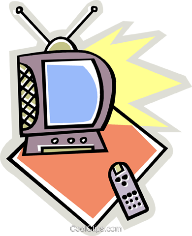 TV Royalty Free Vector Clip Art illustration vc010601