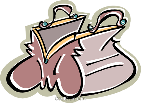 purse Royalty Free Vector Clip Art illustration vc010602