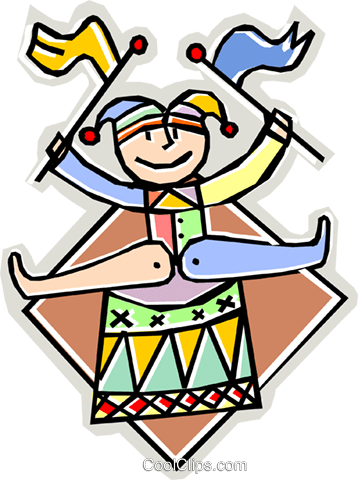 Court Jester Royalty Free Vector Clip Art illustration vc010603