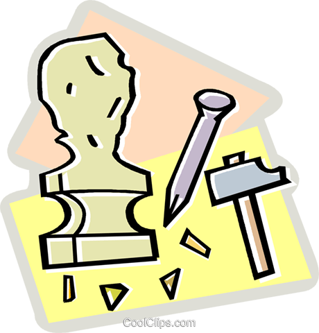 sculpture Royalty Free Vector Clip Art illustration vc010605