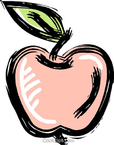 apple Royalty Free Vector Clip Art illustration vc010611