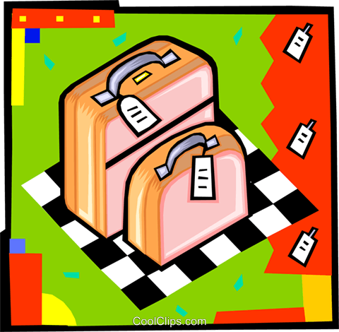 luggage Royalty Free Vector Clip Art illustration vc010612
