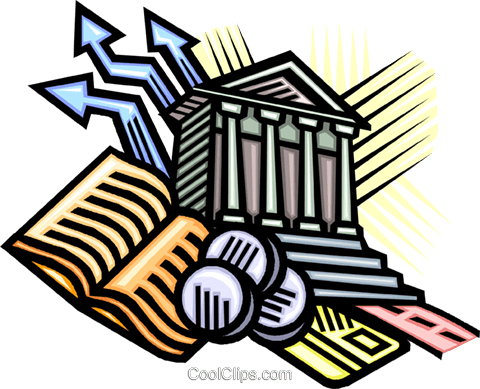 banking symbols Royalty Free Vector Clip Art illustration vc010618