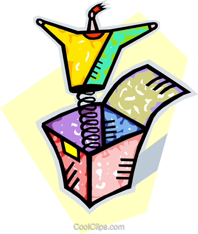 jack-in-the-box Royalty Free Vector Clip Art illustration vc010619