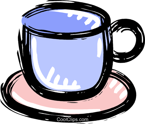cup of coffee Royalty Free Vector Clip Art illustration vc010620