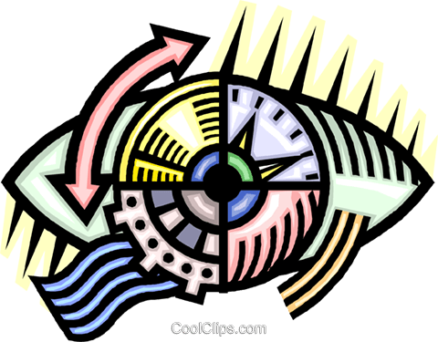 gears Royalty Free Vector Clip Art illustration vc010625