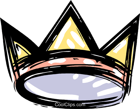 king's crown Royalty Free Vector Clip Art illustration vc010638