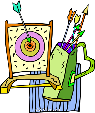 archery Royalty Free Vector Clip Art illustration vc010649