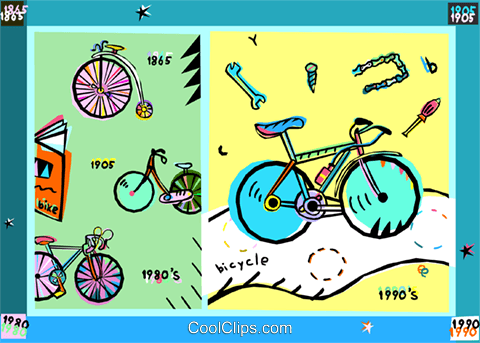 bicycles Royalty Free Vector Clip Art illustration vc010661