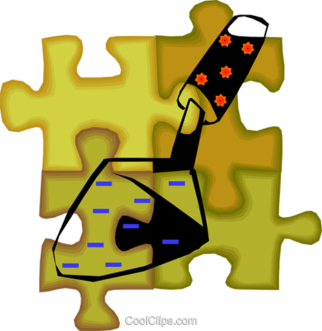 trowel Royalty Free Vector Clip Art illustration vc010677