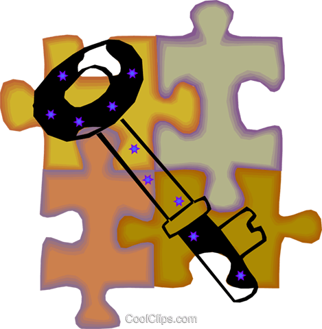 key Royalty Free Vector Clip Art illustration vc010678