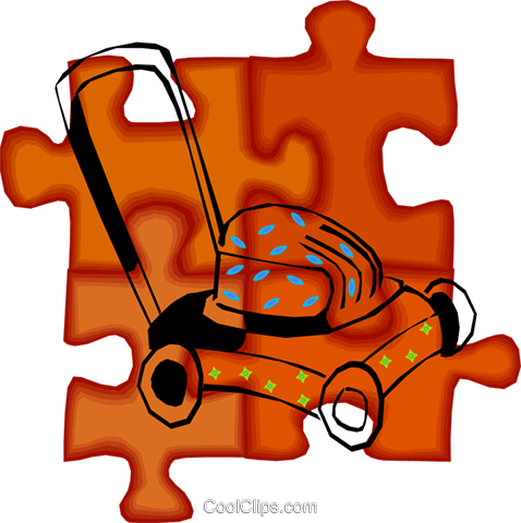 lawn mower Royalty Free Vector Clip Art illustration vc010685