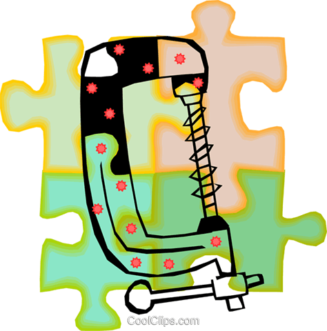clamp Royalty Free Vector Clip Art illustration vc010686