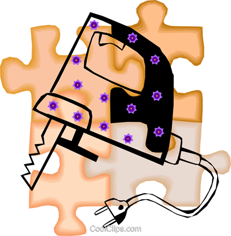 jigsaw Royalty Free Vector Clip Art illustration vc010687
