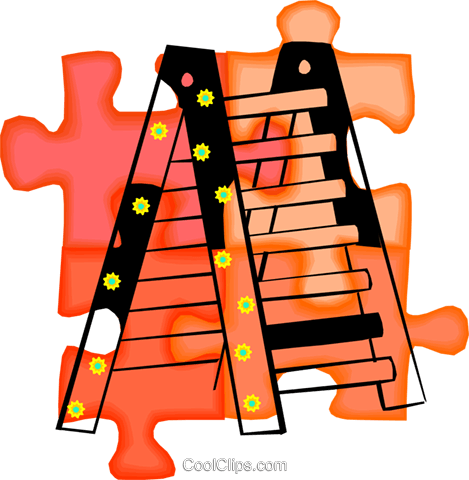 ladder Royalty Free Vector Clip Art illustration vc010688