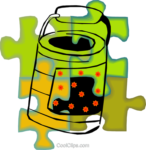 can of paint Royalty Free Vector Clip Art illustration vc010689