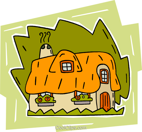 English cottage Royalty Free Vector Clip Art illustration vc010700