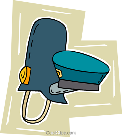 police hats Royalty Free Vector Clip Art illustration vc010704