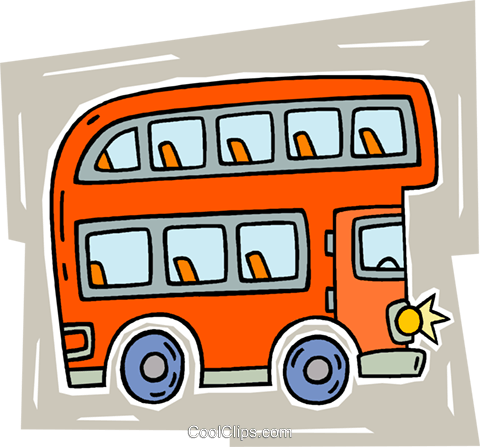 double-decker bus Royalty Free Vector Clip Art illustration vc010709
