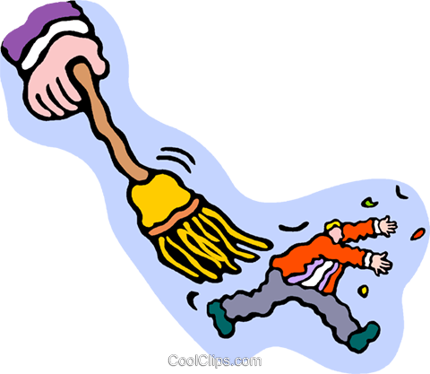 brush off, swept away Royalty Free Vector Clip Art illustration vc010715