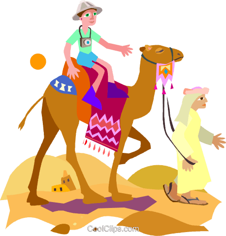 camel Royalty Free Vector Clip Art illustration vc010721
