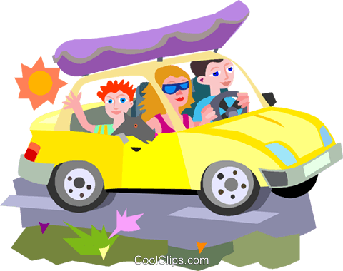 car vacation Royalty Free Vector Clip Art illustration vc010724