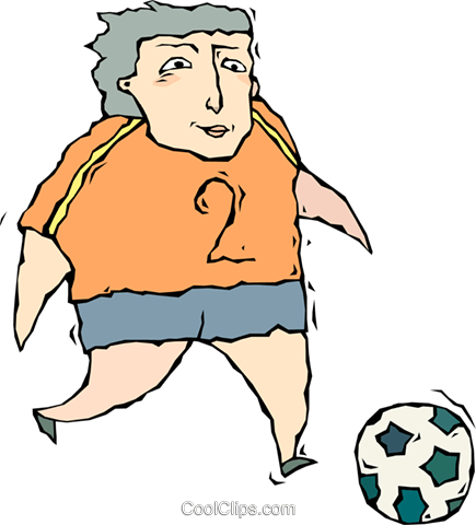 soccer player Royalty Free Vector Clip Art illustration vc010728