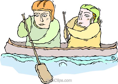 canoe Royalty Free Vector Clip Art illustration vc010730