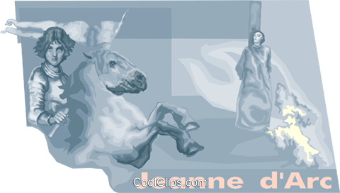 Jeanne d'arc Royalty Free Vector Clip Art illustration vc010737
