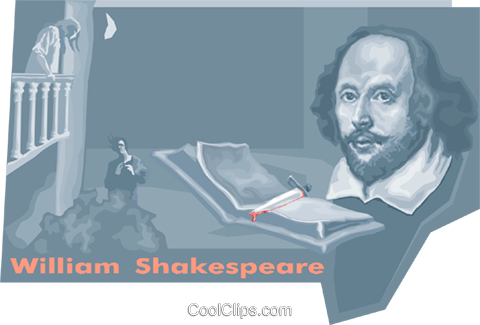 William Shakespeare Royalty Free Vector Clip Art illustration vc010738