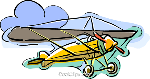 airplane, single engine plane Royalty Free Vector Clip Art illustration vc010742