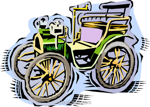 Antique car Royalty Free Vector Clip Art illustration vc010745