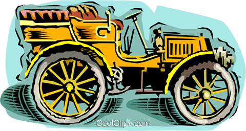 antique car Royalty Free Vector Clip Art illustration vc010746