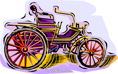 antique car Royalty Free Vector Clip Art illustration vc010747