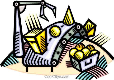 automated assembly line Royalty Free Vector Clip Art illustration vc010753