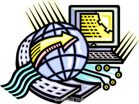 Global telecommunications Royalty Free Vector Clip Art illustration vc010756