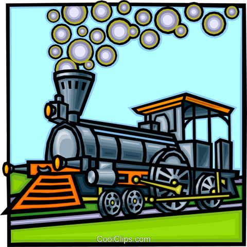Steam locomotive Royalty Free Vector Clip Art illustration vc010779