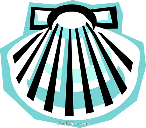 clam shell Royalty Free Vector Clip Art illustration vc010795