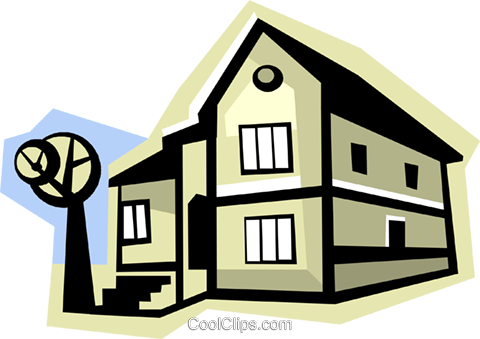 house Royalty Free Vector Clip Art illustration vc010796