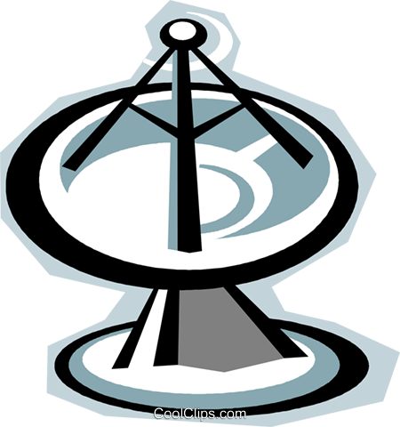 satellite dish Royalty Free Vector Clip Art illustration vc010797