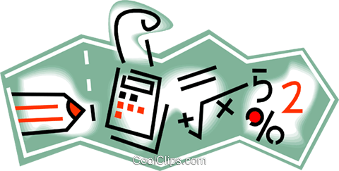 mathematical formulas Royalty Free Vector Clip Art illustration vc010798