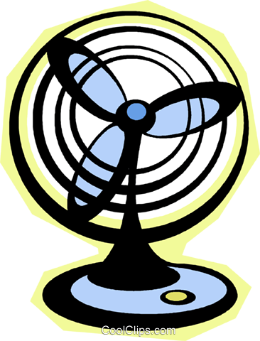 electric fan Royalty Free Vector Clip Art illustration vc010801