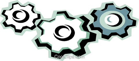 gears Royalty Free Vector Clip Art illustration vc010803
