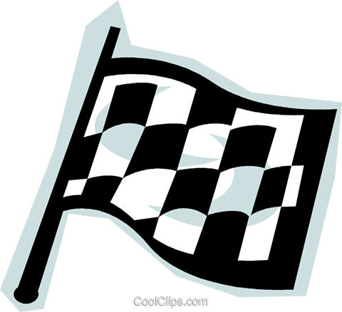 checkered flag Royalty Free Vector Clip Art illustration vc010807